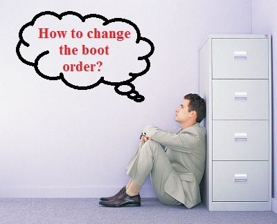 how to change the boot order