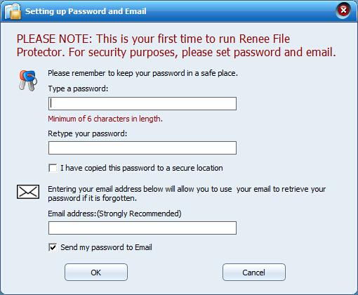 set master password