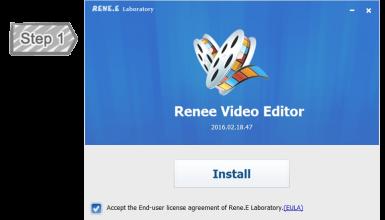 Установка Renee Video Editor