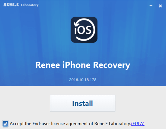 Renee iPhone Recovery_установка программы