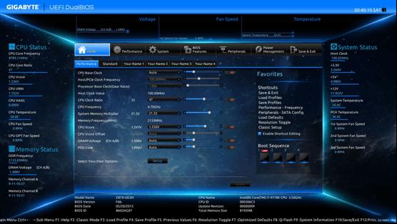 UEFI settings